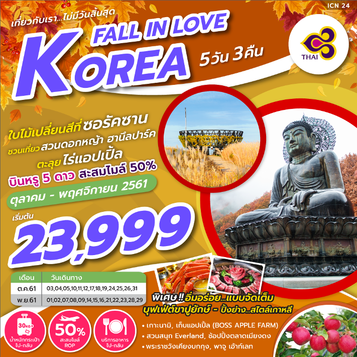 KOREA FALL IN LOVE 5D3N (TG) BNT